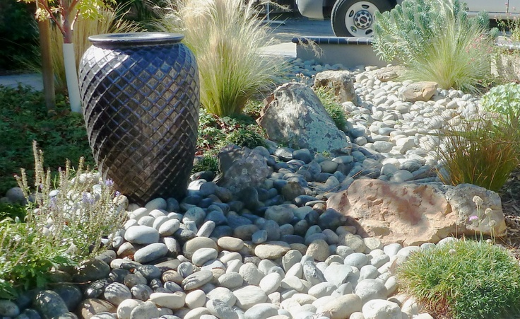 15 best images about dry creek bed on pinterest a well for Water garden landscaping designs