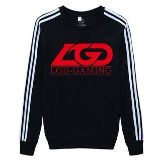 Primavera Dota 2 equipe LGD camisola para homens 4XL estilo pescoço de grupo