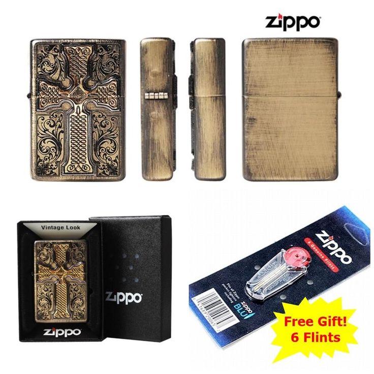 [Zippo] CREADOS EMBLEM BR/ Windproof Lighter Made in USA + 6 Flints for free