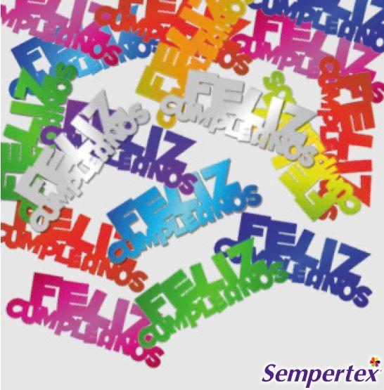 Confetti Feliz Cumpleaños Metálicos 15g