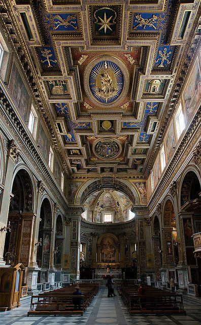 San Marcello al Corso: Nave and Ceiling, Vatican City