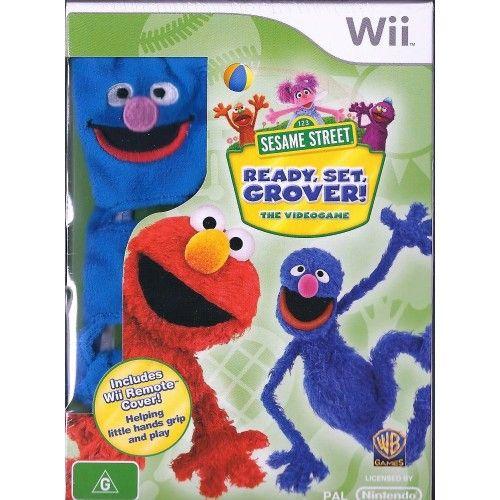 Nintendo Wii 123 Sesame Street Ready set Grover the videogame BRAND NEW (IMPORT)