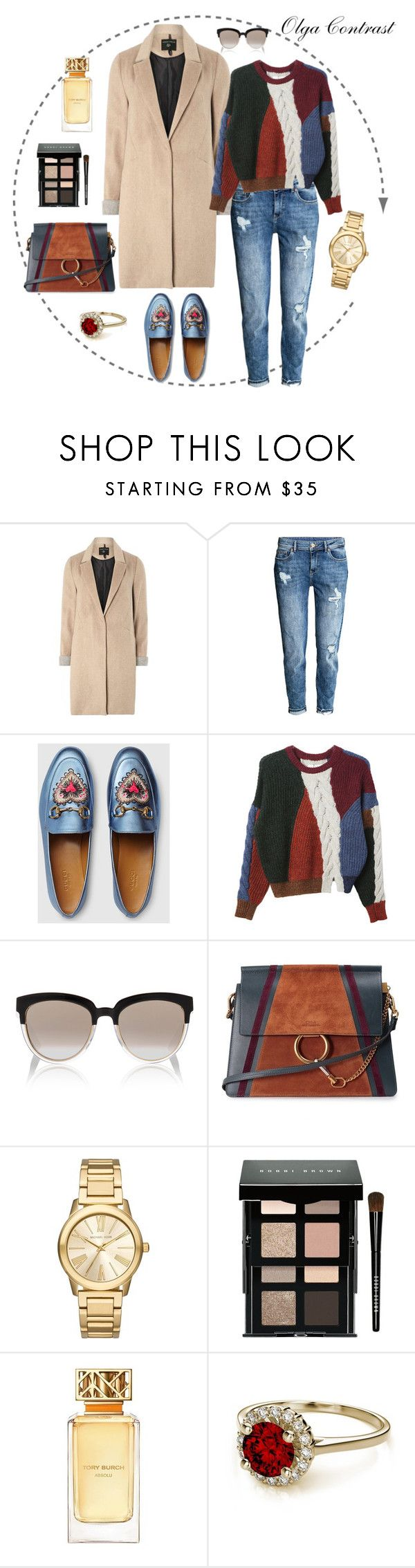"""06.10.2016"" by olgacontrast on Polyvore featuring мода, mel, Gucci, Isabel Marant, Christian Dior, Chloé, Michael Kors, Bobbi Brown Cosmetics и Tory Burch"
