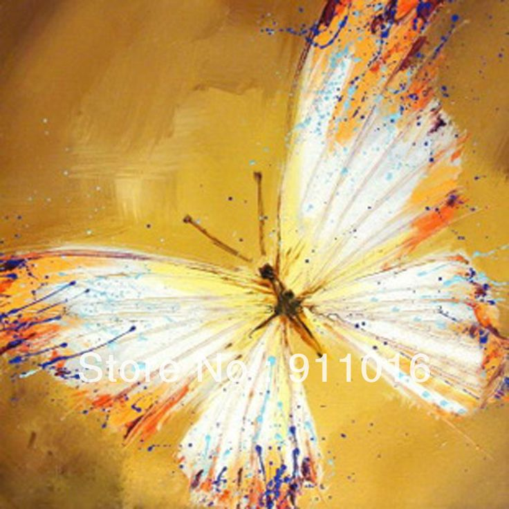 Abstract Watercolor butterflys  Gift Modern Oil Painting