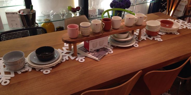 Our collection and display of iittala Sarjaton.