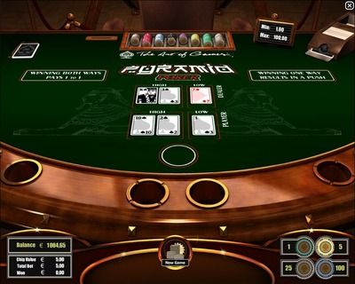 """Pyramid Poker"" - which is played in some Las Vegas casinos - can be seen as an easier and faster to play variant of Pai Gow Poker. Pyramid Poker is played with one standard 52-card deck without jokers and a hand of three cards only. Pyramid Poker has a typical poker card ranking but aces are always high. Register here to play http://casino-goldenglory.com/"