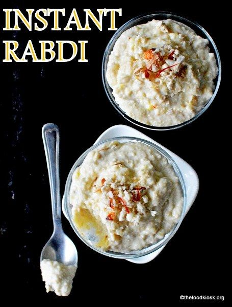 Instant Rabdi recipe - The tedious process of making rabdi and you can now make it instantly