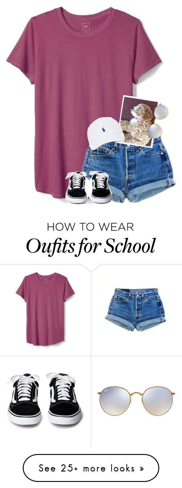 """""""Guys we got a puppy I can't even rn"""" by graciegirl2015 on Polyvore featuring Gap and Ray-Ban"""
