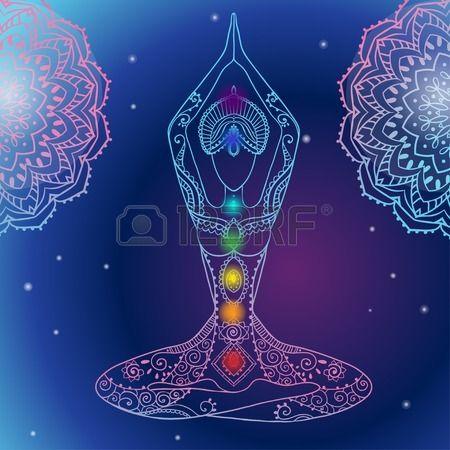 Ornamento bella carta con Vector yoga. Disegnato geometrica elemento mano. Carte perfette per qualsiasi altro tipo di design, compleanno e altre vacanze, caleidoscopio, medaglione, yoga, india, arabo. Archivio Fotografico - 47173913