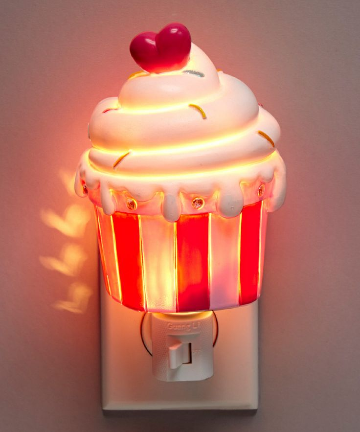 Cupcake Night-light. Because I am still afraid of the dark. lol
