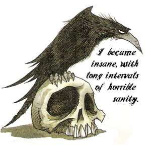(I would choose a better e.a poe quote and a more realistic raven) but I love the concept!