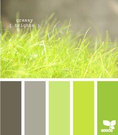 Paleta de color de verde. PARECE fresco y nuevo