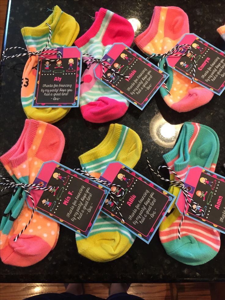 Emoji socks....trampoline party favor