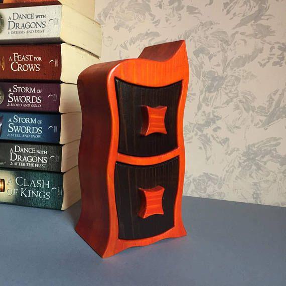 Teabag holder bandsaw box for tea Christmas gift for tea