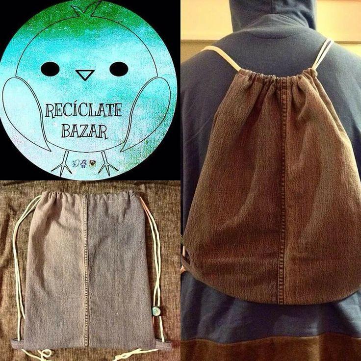 bolso confeccionado en #jeans reutilizado disponible en www.facebook.com/reciclatebazar #handmade #reciclalovers #ecofriendly #viña #valparaiso