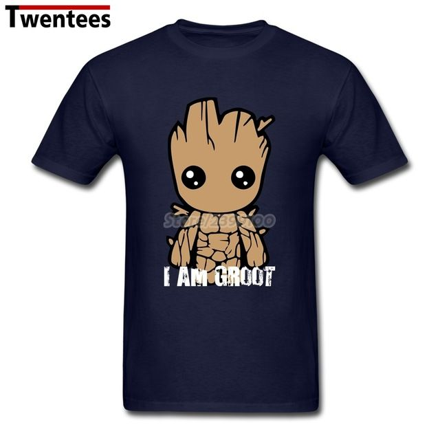 Promotion price I Am Groot Tee Shirt Men's Printing Short Sleeve Crewneck Cotton XXXL Couple Guardians Of The Galaxy T Shirts just only $12.10 with free shipping worldwide  #tshirtsformen Plese click on picture to see our special price for you