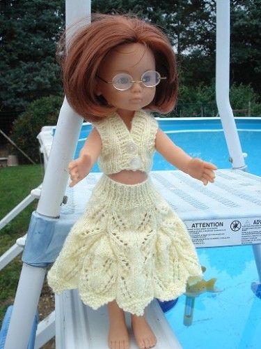 Fiche gratuite vêtements de poupées N° 90: jupe et haut pour Chéries de Corolle - Le blog de La malle ô trésor de Sylvie POUR LE TOP