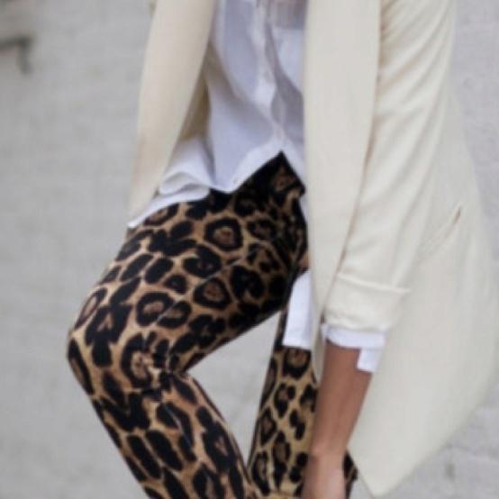 Leopard leggings/jeans