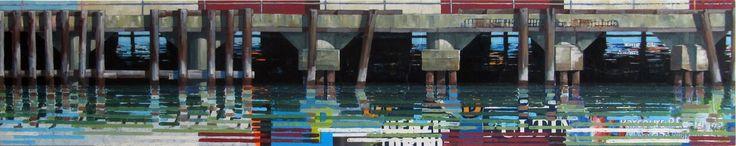 Fort Mason Reflections No 3 12x60 | Catherine Mackey