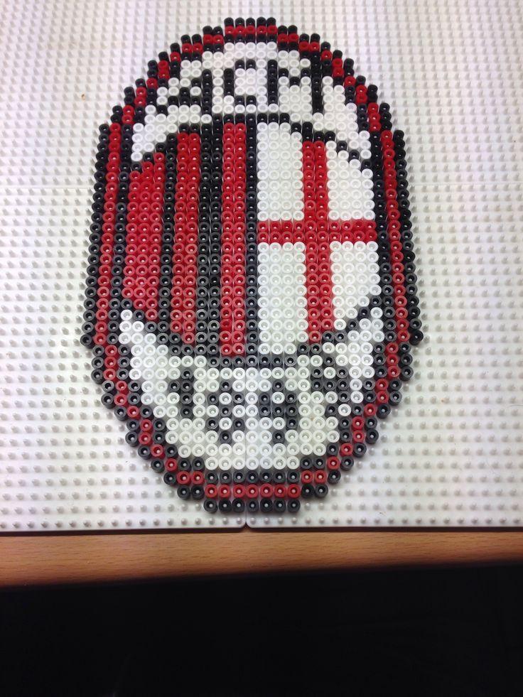Ac Milan - fodbold - hama beads - hama perler