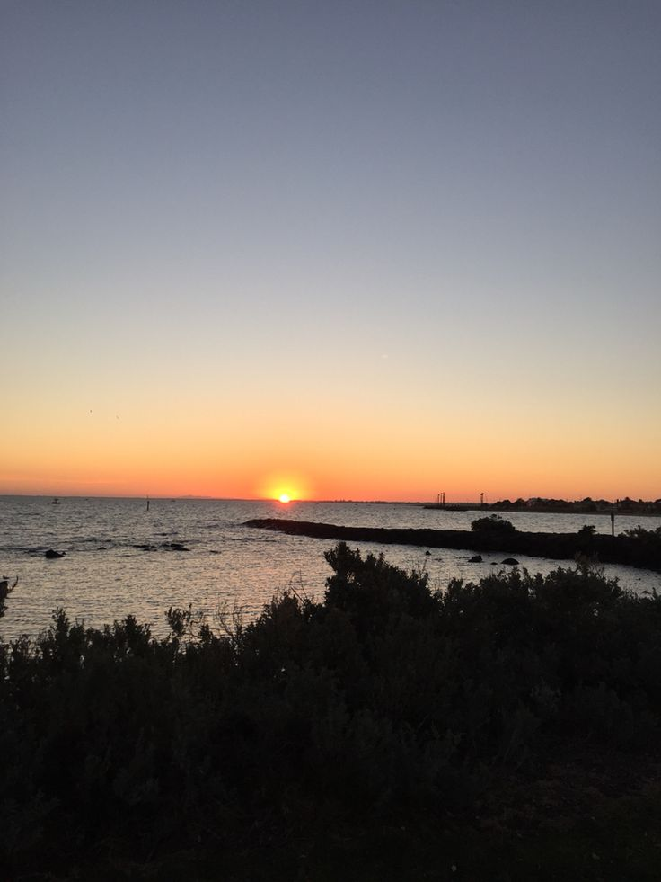 Sunset at Williamstown. Photo taken by Andrea Crossan