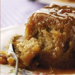 Sticky toffee pudding without dates - nice recipe but it didn't taste strongly of toffee.