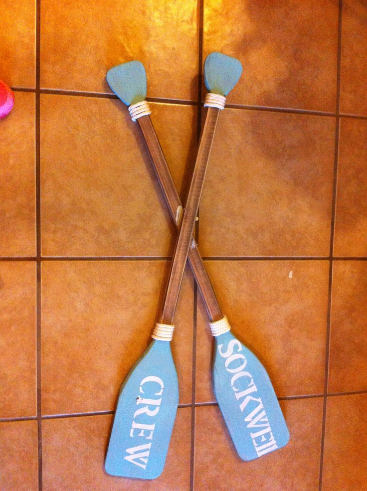 Boat oars with our family name on it...I just sanded the ...