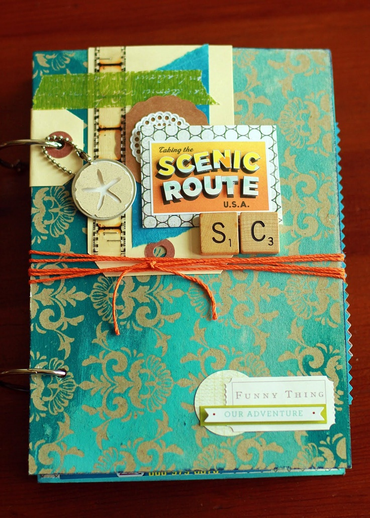 WIP Blog: 2011 Travel JournalMinis Book, Travel Smash, Travel Journals, Minis Album, Smash Book, Travel Nurs, Book Pages, 2011 Travel, Scrapbook Layout