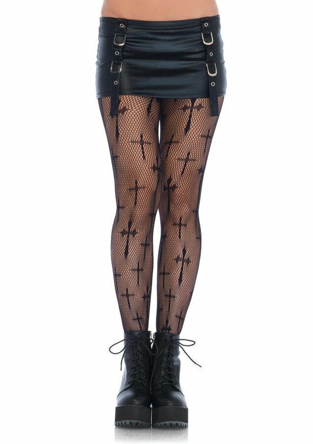 08596318c Black Cross Fishnet Pantyhose PLUS SIZE Hosiery Curvy Halloween Stockings  Fishnet Pantyhose Black