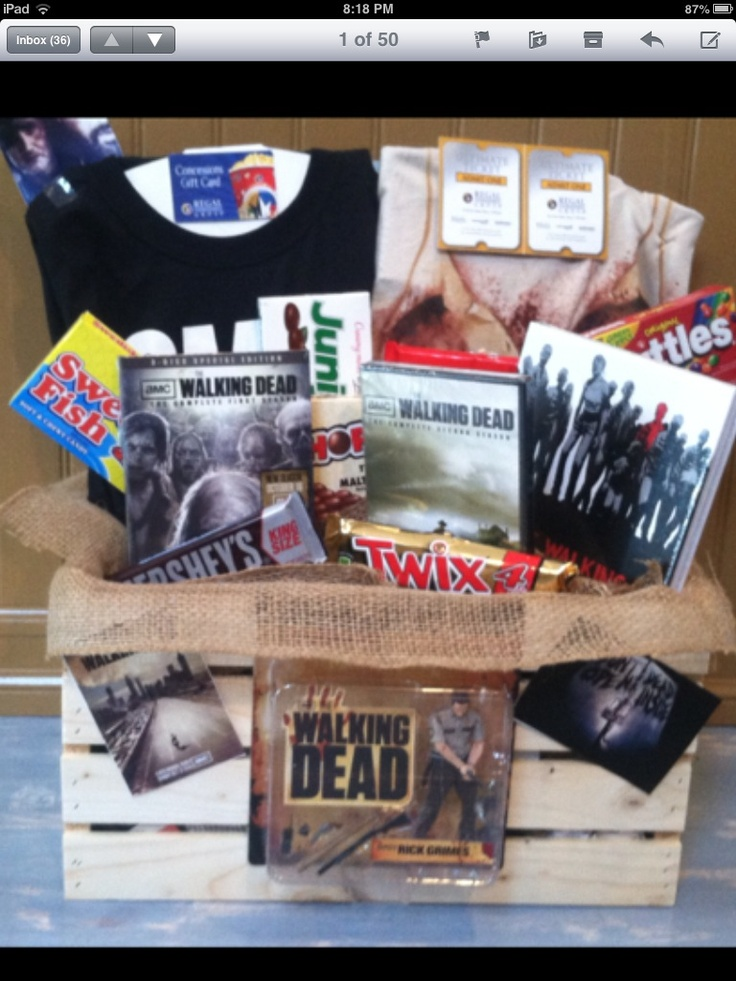 Walking Dead gift basket This would be the ultimate gift for Taylor :D