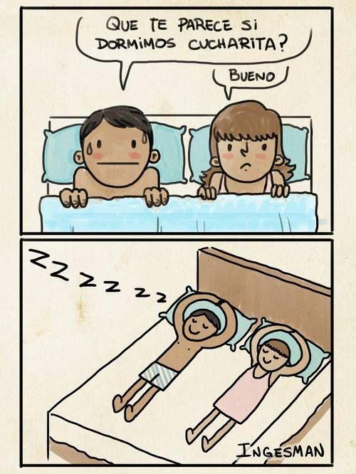 dormir de cucharita
