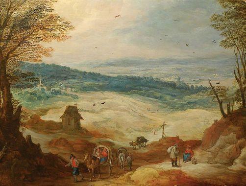 Joos de Momper the Younger (1564 - 1635). Возвращение трейдера (торговца).