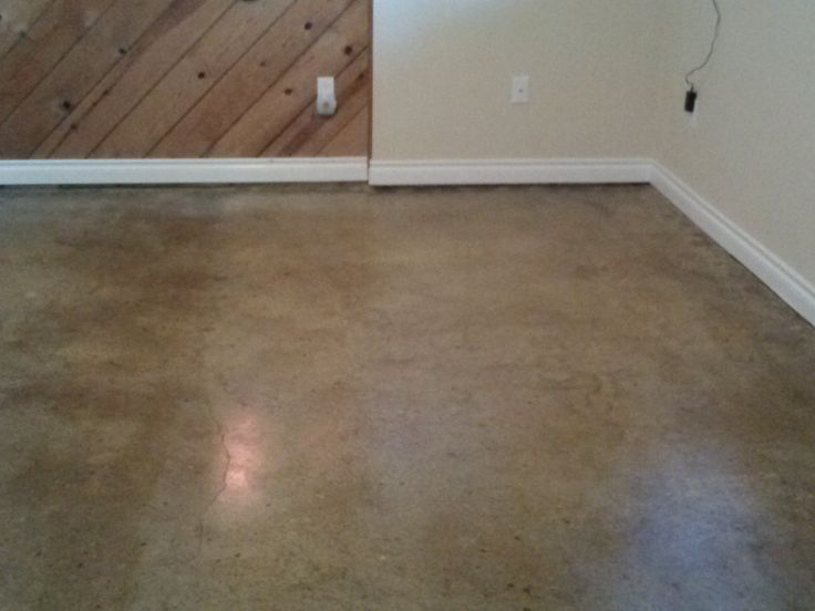 Concrete Floors (after 2 coats of sealer).  All water based products.  H&C semi-transparent stain Cork and Espresso.