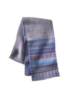 Carhartt Womens Folk Pattern Heather Gray Scarf | Buy Now at camouflage.ca