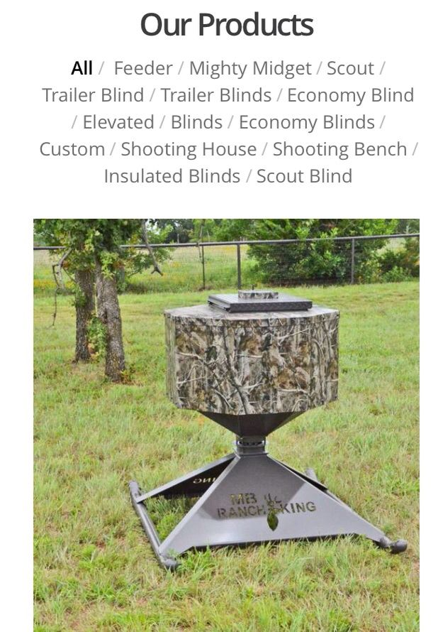 Automatic deer feeder by MB Ranchking  Www.ranchkingblinds.com