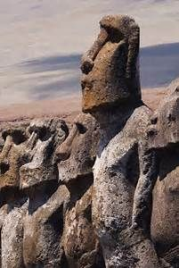 head and shoulders above the rest - moai of Easter Island