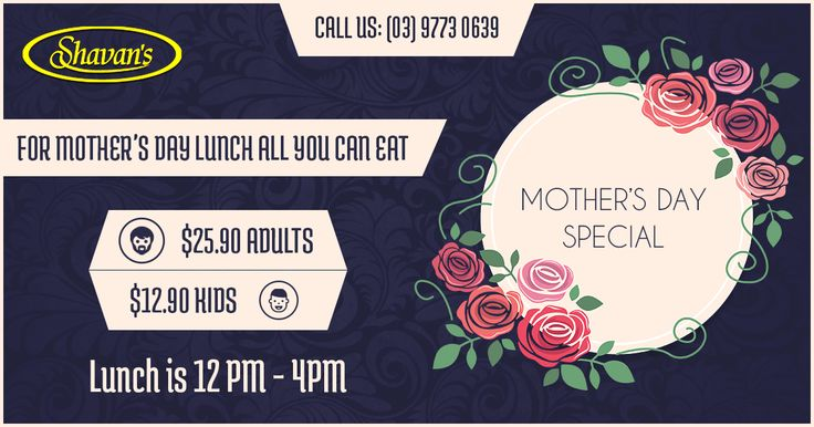 $25.90 Shavan's Mother's Day all you can eat lunch