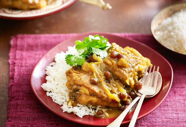Make like the Brits and try one of their sweet variations on an Indian chicken curry
