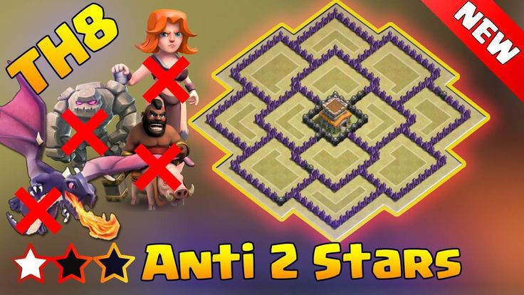 Best Town Hall 8 (TH8) War Base 2016  Defense Replay. Town Hall 8 (TH8) War Base  Defense Replay ANTi 2 Stars TH8 war base design. Clash of clans Town Hall 8 (TH8) War base layout ANTi GoWipe ANTi Dragon ANTi Hog ANTi 2Stars.  This is the world's best Town Hall 8 (TH8) war base layout ever. You can use this amazing war base for TH8. In this video all the defense replays were shown those were dragon attacks with different spell compositions but dragons cannot defeat that town hall 8 (TH8)…