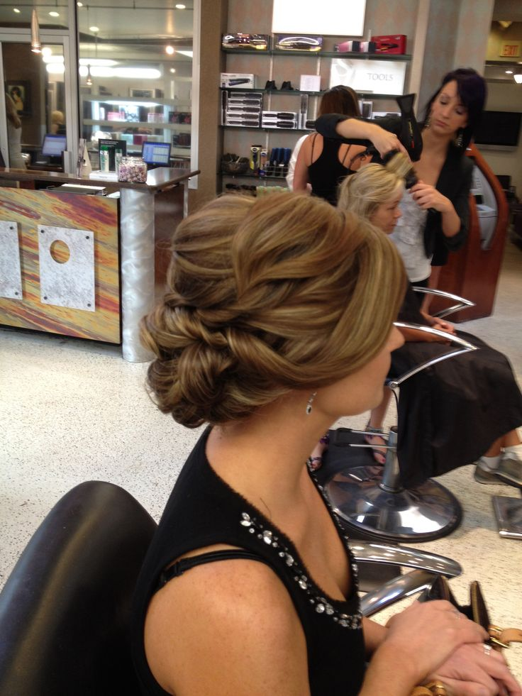 Romantic Wedding Updo since my hair hates to curl