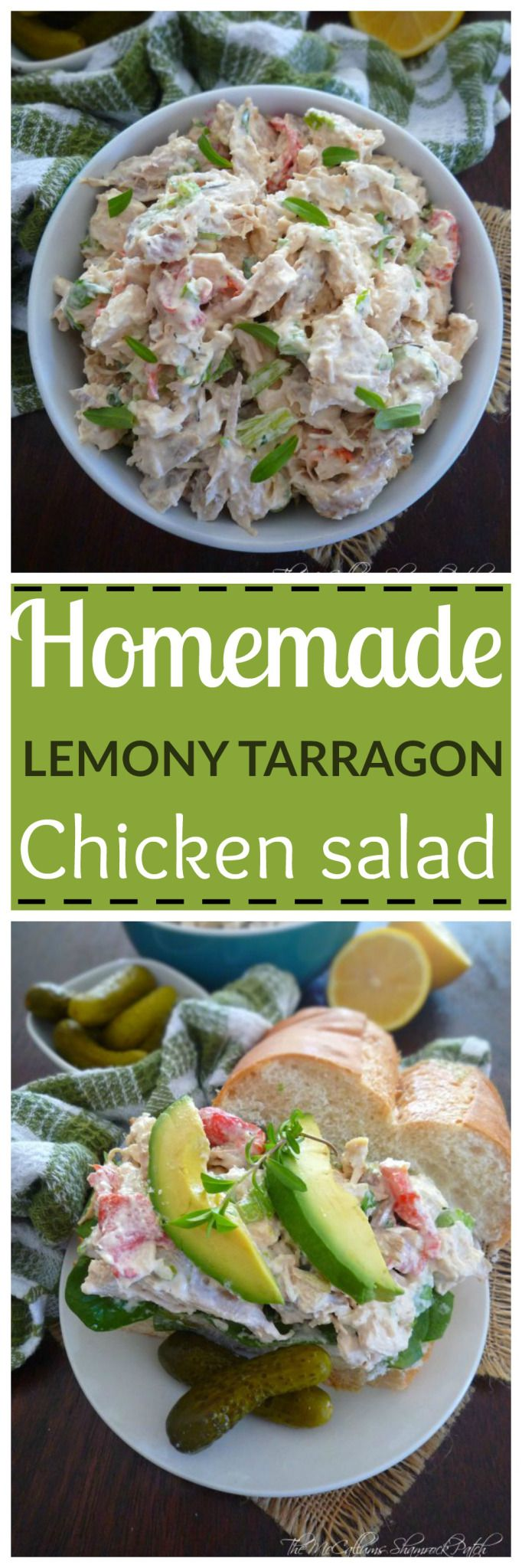 Lemony Tarragon Chicken Salad it has a clean fresh taste, with a positive upside; Lemony Tarragon Chicken Salad is so easy to make in a matter of minutes; combining  diced chicken breast meat, fres…