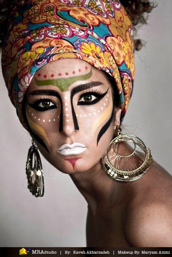 African tribes by Maryam Azimi, via Behance