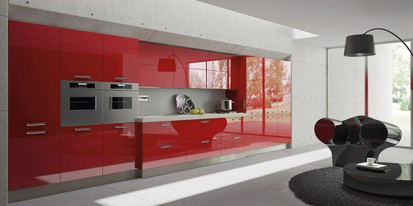 Light, the ultra-modern kitchens with acrylic wall shelving units by Arrital Cucine