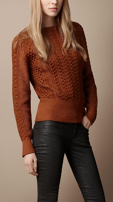 Burberry Cable Knit Sweater.  Love this color!