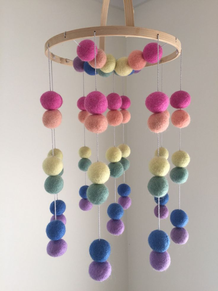 Felt Baby Mobile - Baby Cot Mobile - Baby Mobile for Crib - Cot Mobile - Nursery Decor - Double Ball Pattern by LLcoolHDesigns on Etsy https://www.etsy.com/listing/491284086/felt-baby-mobile-baby-cot-mobile-baby