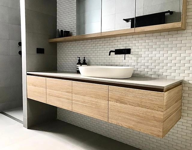 "612 Likes, 9 Comments - Steel Reveals... (@steel.reveals) on Instagram: ""These Japanese inspired wave tiles are amazing! Stunning bathroom by @heartlydesignstudio"""