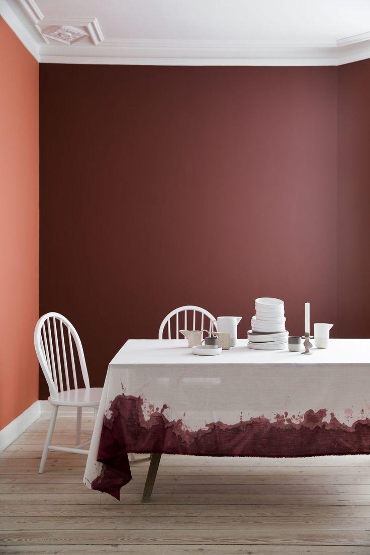 Farg tekstiler og papir og lag helt unikt interiør