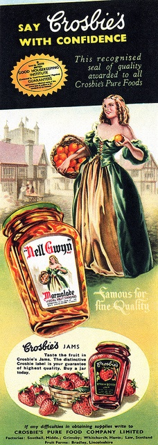 I adore a good marmalade and wonder how this one stacked up? jam marmalade vintage ad food 1950s