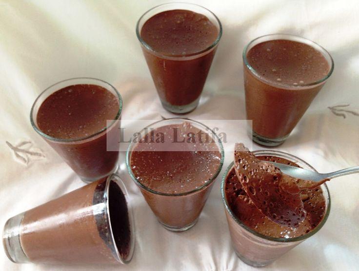 Flan chocolat café au Thermomix - Les secrets de cuisine par Lalla Latifa