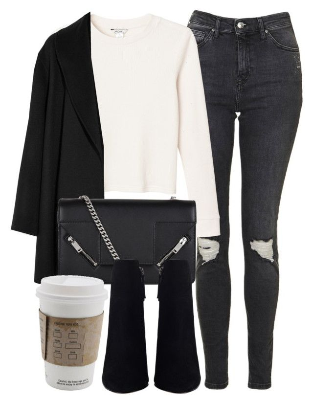 """""""Untitled #6581"""" by laurenmboot ❤ liked on Polyvore featuring Topshop, Monki, Agnona and Yves Saint Laurent"""